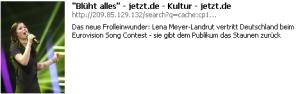 "Lena Meyer-Landrut: ""Blüht alles"" (Süddeutsche)"