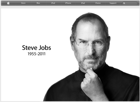 Screenshot of Apple.com (October 6, 2011, 2 a.m. CEST)