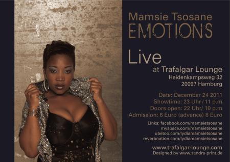 Mamsie Tsosane @Trafalgar Lounge