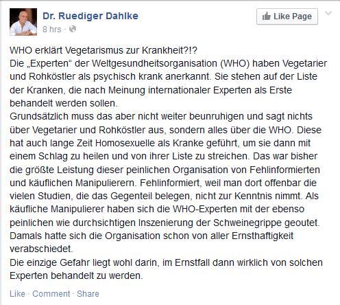 Wie Eso-Ruediger auf einen Uralt-Fake hereinfiel (Dummes von Dr. Dahlke)