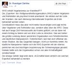 Screenshot der Facebook-Seite von Dr. Ruediger Dahlke
