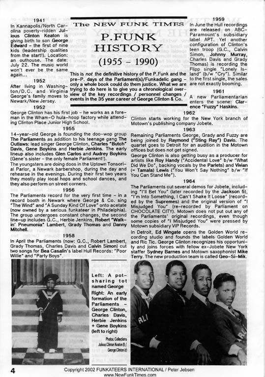 The Complete New Funk Times P.Funk History Double Issue 4/5 from 1990 (4/6)
