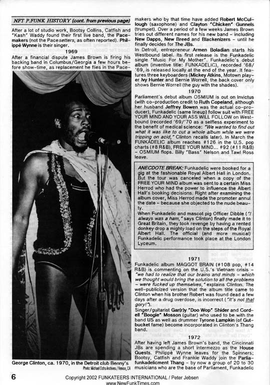The Complete New Funk Times P.Funk History Double Issue 4/5 from 1990 (6/6)