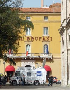 "Hotel Brufani, ""Zentrale"" des IFJ (Foto: Peter Jebsen)"