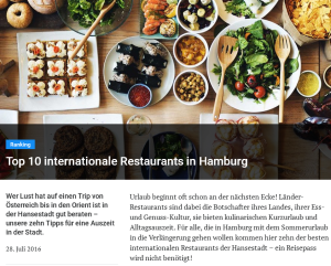Falstaff: Top 10 internationale Restaurants in Hamburg
