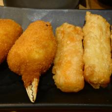 Krebsscheren, Tempura Surimi, Gyoza mit Gemüse-Variationen (Photo: Peter Jebsen/All rights reserved)