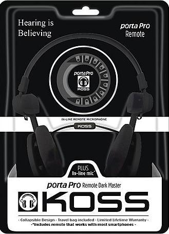 Koss Porta Pro Remote Dark Master